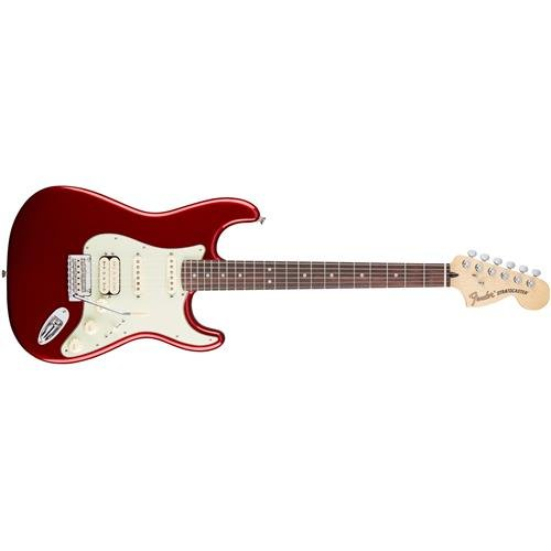 Fender Deluxe Stratocaster Electric Guitar HSS, Rosewood Fingerboard, Candy Apple - Deluxe Electric Stratocaster Hss Guitar
