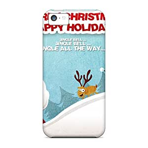 New Arrival Merry Christmas Happy Holidays For Iphone 5c Case Cover