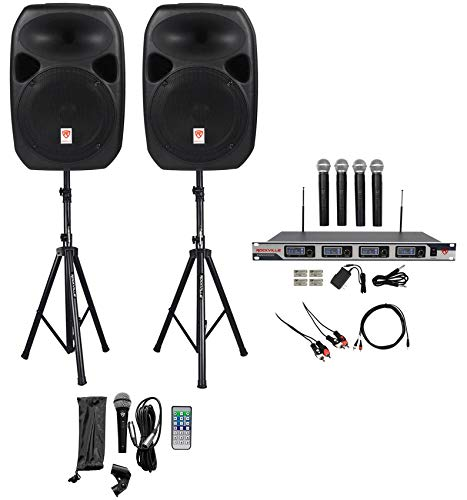 "Rockville Dual 12"" Laptop/iphone/ipad/Android/TV Youtube Karaoke Machine/System"