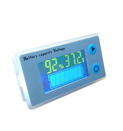 36V LCD Lead Acid Battery Capacity Meter Voltmeter Temperature Display Battery Fuel Gauge Indicator Voltage Monitor ()