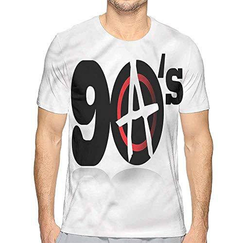 Mens t Shirt 90s,90s Anarchy Revolution Energy HD Print t Shirt M