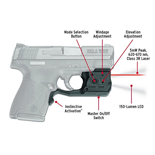 Crimson Trace LL-801 Laserguard Pro Red Laser Sight for sale  Delivered anywhere in USA