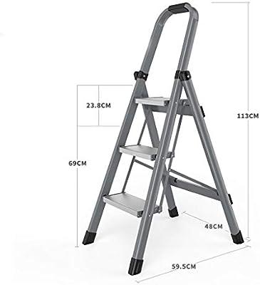 Escalera plegable Escalera de espiga para interiores con múltiples funciones, escalera plegable para el hogar, escalera plegable de aluminio de tres pasos / cuatro pasos, escalera plegable, escalera p: Amazon.es: Hogar