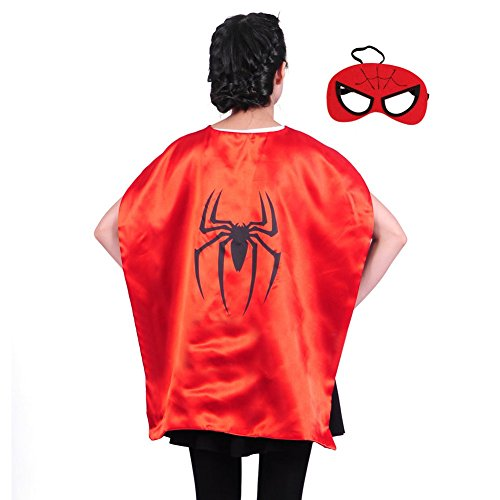 Kids Large Superhero Capes (35 in) (Spiderman)