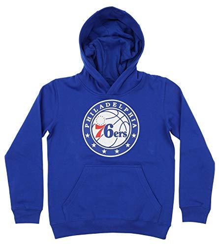 Outerstuff NBA Youth Boy's (8-20) Primary Logo Team Color Fleece Hoodie, Philadelphia 76ers Medium(10-12) ()
