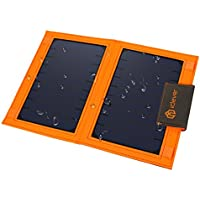 iClever USB Solar Charger 8000mah Solar Battery Pack Single Port with 12W Sunpower Panel for iPhone X / 8 / 7 / 7 Plus / 6S / 6 Plus, iPad Pro Air / Mini and other Cellphone, Tablet