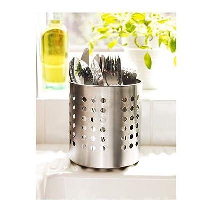 Amazon.com : NEW IKEA Cutlery Caddy Stainless Steel Utensil ...