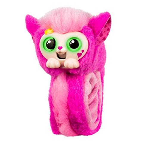 les Plush Interactive Toys, Wrist Monkey with Eyes Changing Colors, Wrist Talking Pets Plush Toys for Child Present - Not Batteries Included - Princeza Wrapple ()