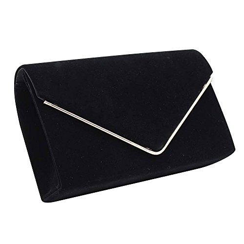 Soft Clutch Women Black Fashion Cross body New Wiwsi Design Velvet Shoulder Bags Chain Orange RxBqIwTU