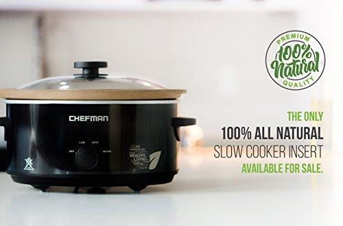 Chefman Slow Cooker All Natural Xl  Qt Pot Glaze Free