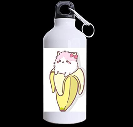Amazon.com: Lindo Cool plátano Kawaii Kitty mascota diseño ...