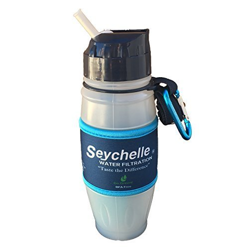 Seychelle pH2O Pure Water 28oz Flip Top Water Bottle with...