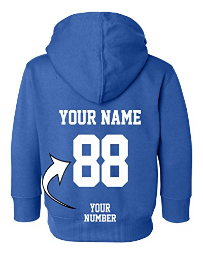 Tee Miracle Custom Toddler Hoodies - Design Your Own Jersey - Pullover Hooded Team Sweaters