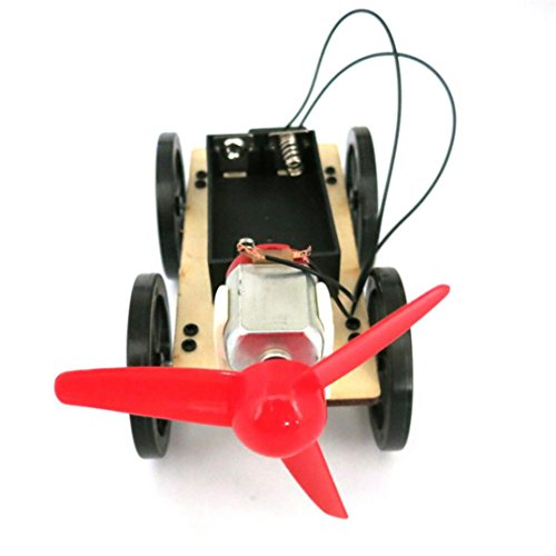 Sunsee Mini Wind Powered Toy DIY Car Kit Children Educational Gadget Hobby Funny