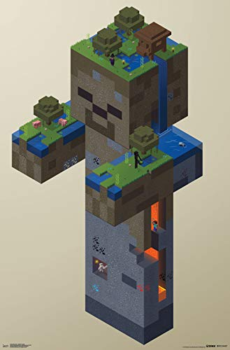 Trends International Minecraft-Zombie Swamp Mount Bundle Wall Poster 22.375
