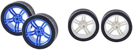 4個 ゴムタイヤー TTモーターカー用 ホイール