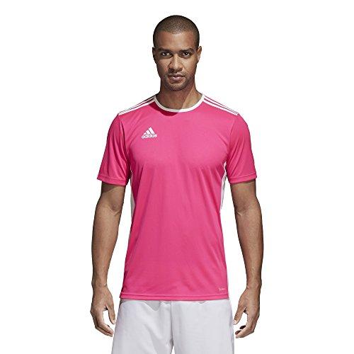 adidas Men's Soccer Entrada 18 Jersey, Shock Pink/White, Medium