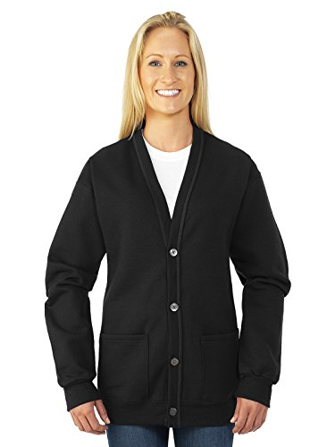 Jerzees 8 oz. NuBlend� 50/50 Cardigan - BLACK - S/M by Jerzees