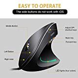 Wired Vertical Mouse, Optical Ergonomic Laptop