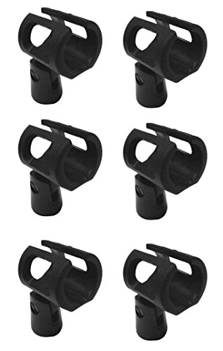 Audio2000's Microphone Clips (Audio 2000's Soft Plastic Microphone Clip Holder Amc4151x6 (6 Pieces))