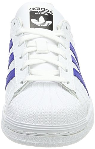 adidas Men's Superstar HK, Ftwwht/Boblue/Boblue, 5 M US