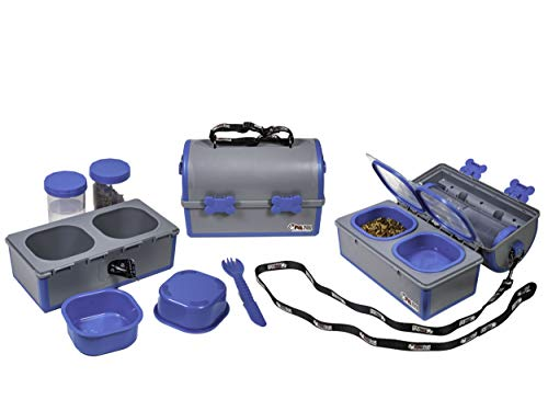 MY PETPAIL - Portable Pet Food and Water Container + Pet Travel Dish with Waste Bag Dispenser + Elevated Dog Bowls for Home - Replace Collapsible Bowls with Our Spill Proof Pet Solution