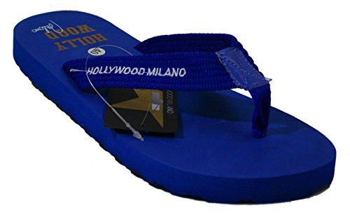 Hollywood Milano, Homens Toe Trenner Luz Azul Azul 42