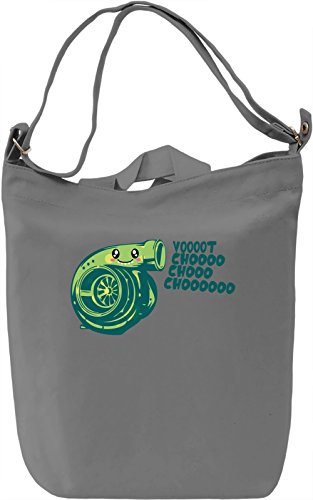 What Does The Turbo Say? Borsa Giornaliera Canvas Canvas Day Bag| 100% Premium Cotton Canvas| DTG Printing|