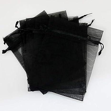 SMHILY 100pcs / Lot Negro Organza Bolsa 13x18 cm Joyería ...