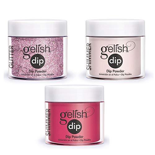 Gelish Soak Off Acrylic Powder Nail Polish Manicure Dip Harmony Set