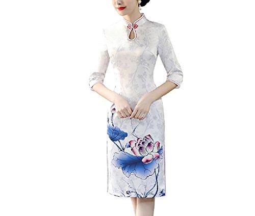 Lazutom Damen Kleid Weiß