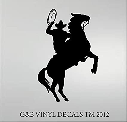 Cowboy Horse Rider Western Wall Decal Home Decor Silhouette 20x 13