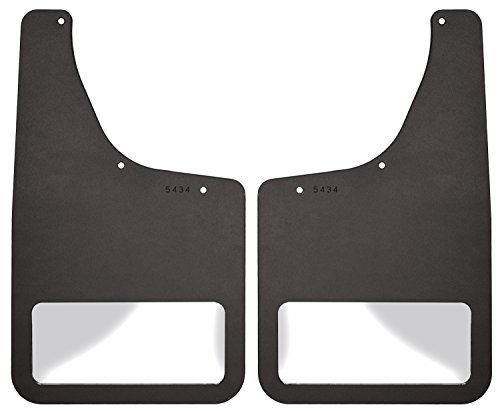 Husky Liners Stainless Steel Rear Mudguard Insert for Select Dodge Models - Pack of 2 (Black)