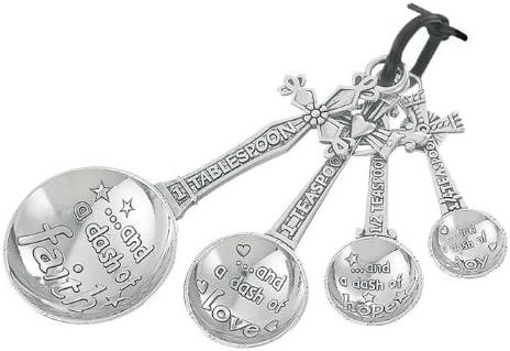 Ganz Measuring Spoons Set, Multisizes, Silver Cross