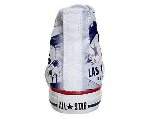 Converse All Star Hi Personnalisé et Imprimés chaussures coutume, Sneaker Unisex (produit Italien HANDMADE) Las Vegas