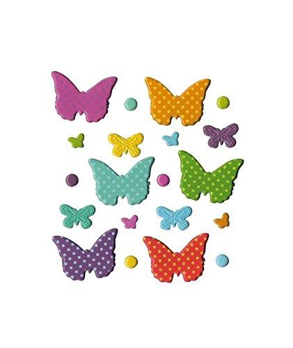 Artemio Farfalle Set di 20 fermacampioni arabesco, Metallo, 9,5 x 1 x 13,8 cm 5x 1x 13 8cm Artémio 11060341