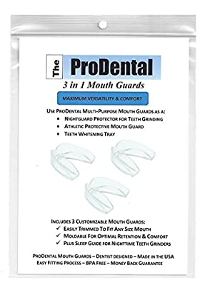 ProDental BPA Free Teeth Grinding Night Guard with 3 Customizable for Comfort Dental Guards