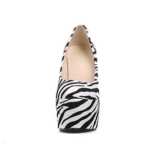 Loafers Show Pumps Womens Heel On Platform Slip Shine White Shoes Wedges Prn1UqPO8