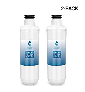 LG LT1000P Refrigerator Water Filter Compatible with LT1000P, LT1000PC, LT-1000PC MDJ64844601 Water Filter by Glacier Fresh, 2 Pack