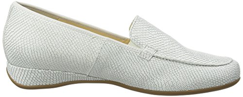 HassiaPetra, Weite G - Mocasines Mujer Blanco - Weiß (0400 offwhite)