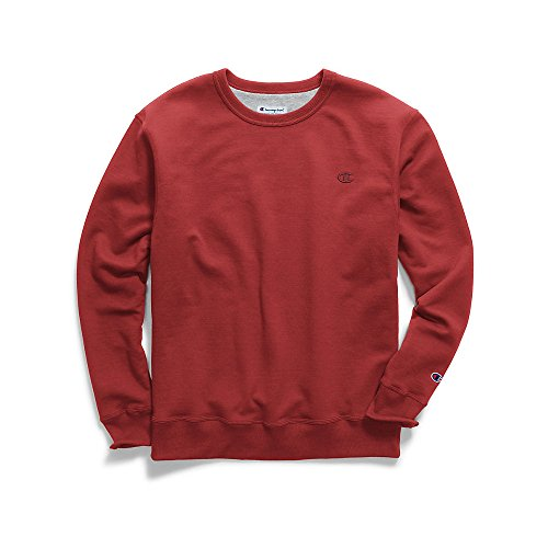 Champion Men's Powerblend Sweats Pullover Crew Team Red Scar