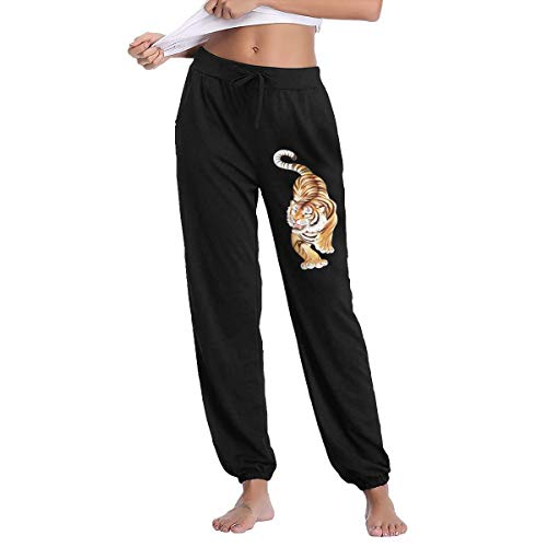 (Lesi Yes Women's Jogger Sweatpants Tiger Active Yoga Lounge Relaxed Fit Soft Pants with Pockets Workout Training Running)