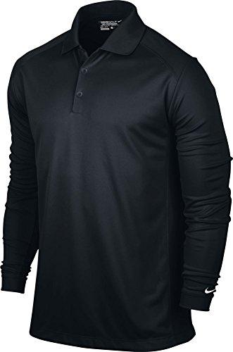 Nike Long Sleeve Body - NIKE Men's Victory Long Sleeve Polo, Black/White, X-Large