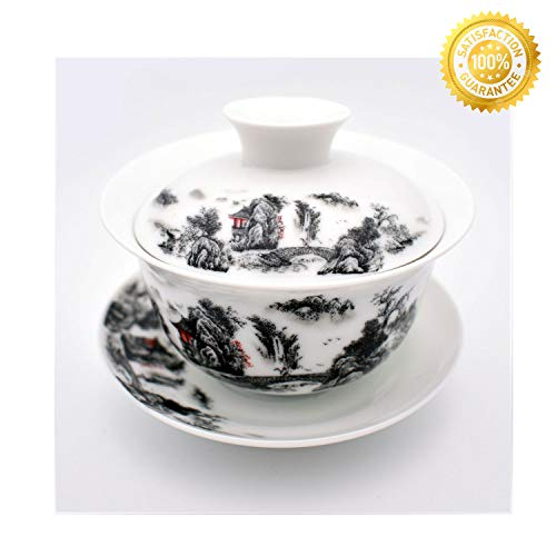 Used, Teacups set,QMFIVE,Chinese Traditional Teaware Blue for sale  Delivered anywhere in USA