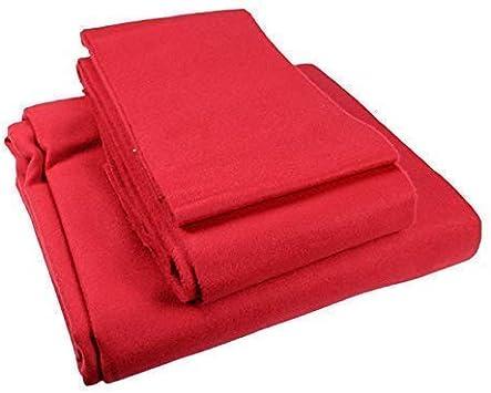 ClubKing - Paño protector para mesa de billar (2,13 x 1,22, superficie y amortiguadores), color rojo: Amazon.es: Deportes y aire libre