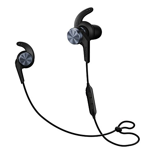 1MORE iBFree in-Ear Earphones Wireless Sport Headphones Bluetooth CSR, IPX 4 Waterproof, Secure Fit in-Line Remote Gym Running Workout - Space Gray