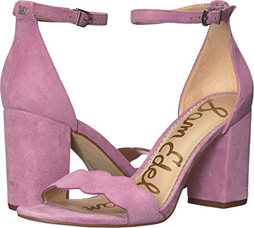 Sam Edelman Women's Odila Ankle Strap Sandal Heel Sweet Lilac Kid Suede Leather 6 W US
