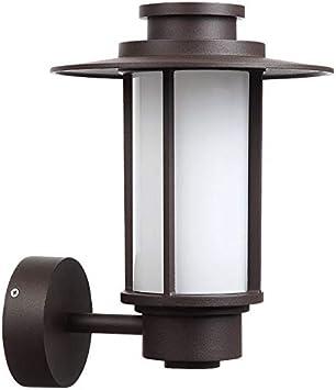 QB American Outdoor Lámpara de Pared Impermeable Lámpara de Pared Antigua de Hierro Forjado Columna Aplique de Pared Leche Pantalla de Vidrio Blanco Iluminación del Patio