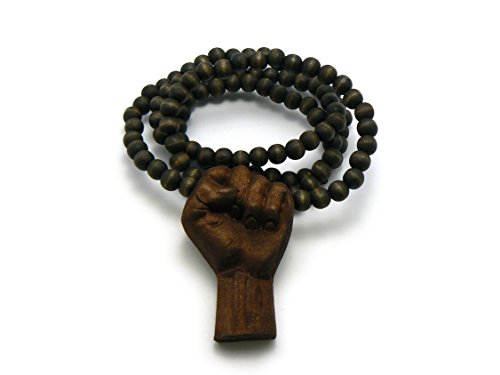 RAL WOOD BLACK MULTICOLOR WOODEN BEAD CHAIN NECKLACE (Brown) ()