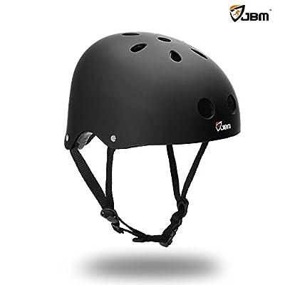 JBM Skateboard Helmet CPSC ASTM Certified Impact resistance Ventilation for Multi-sports Cycling Skateboarding Scooter Roller Skate Inline Skating Rollerblading Longboard from Jbm International